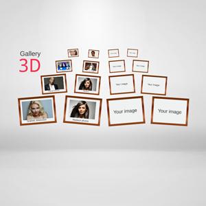 Gallery 3D Prezi template - Prezi Template