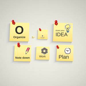 Infographic with Pinned Notes - Prezi Template