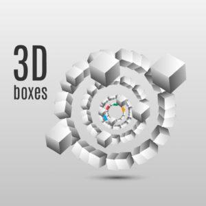D boxes Prezi template