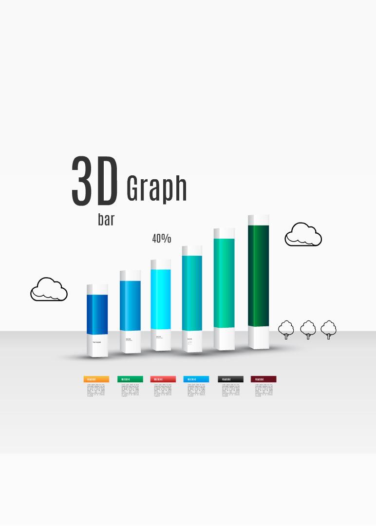 3d bar graph prezi template | preziland | preziland