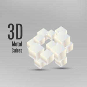 d metal cubes