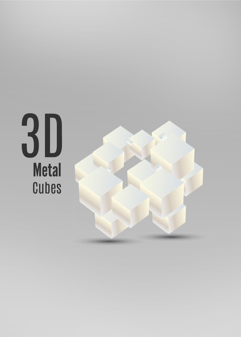 3D Metal Cubes Prezi Template