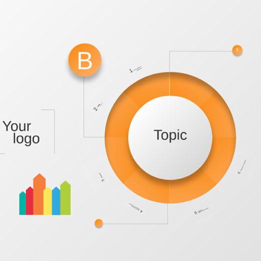 Circle Diagram Infographics Prezi template