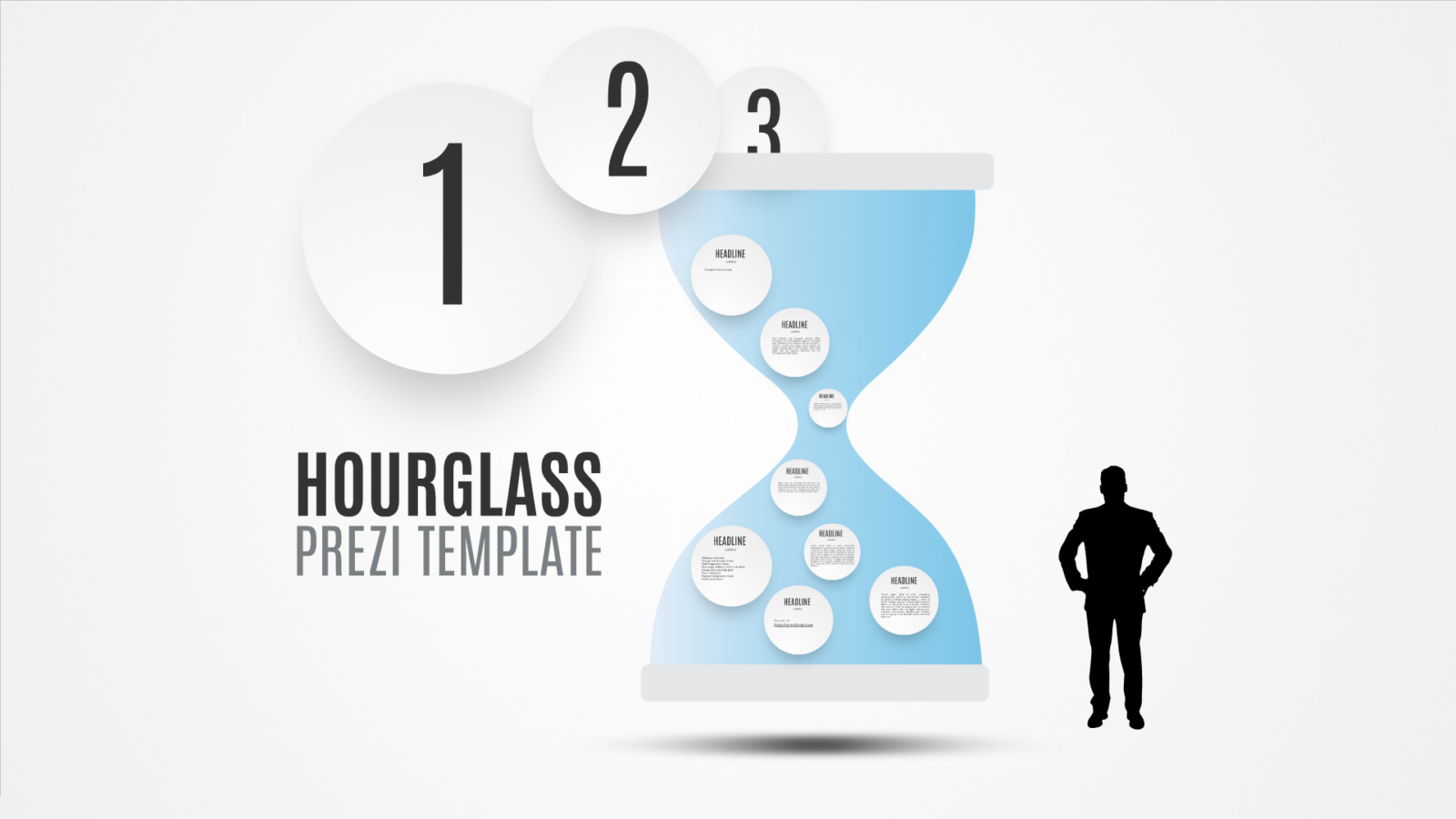 Hourglass Prezi template