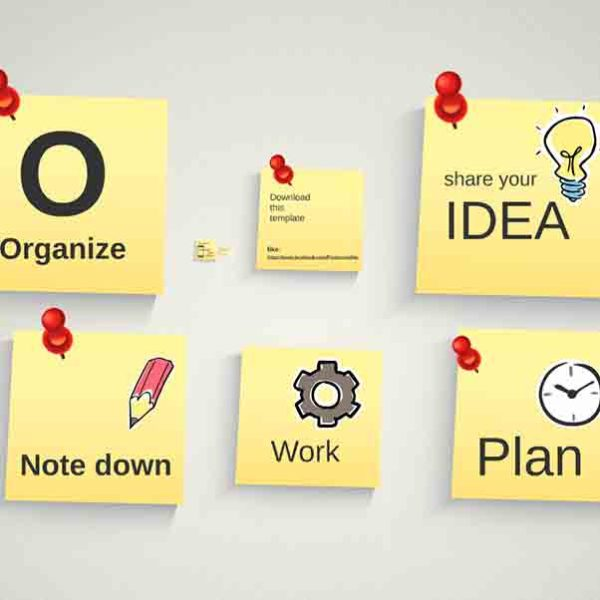 Infographic Pinned Notes Prezi template