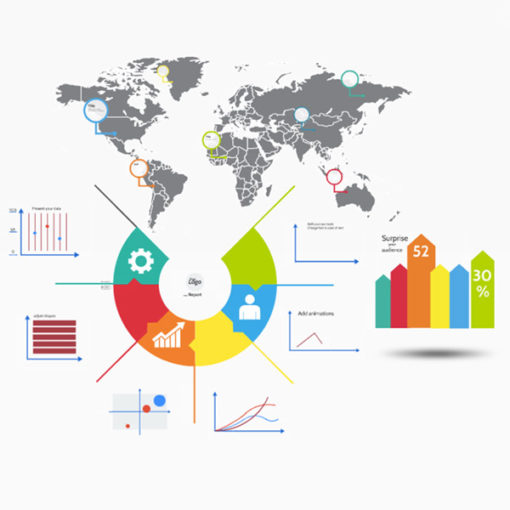 Infographics World Business Report Prezi template