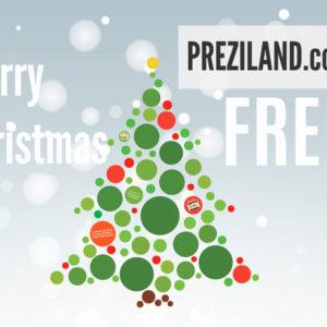 Merry Christmas Free Prezi template