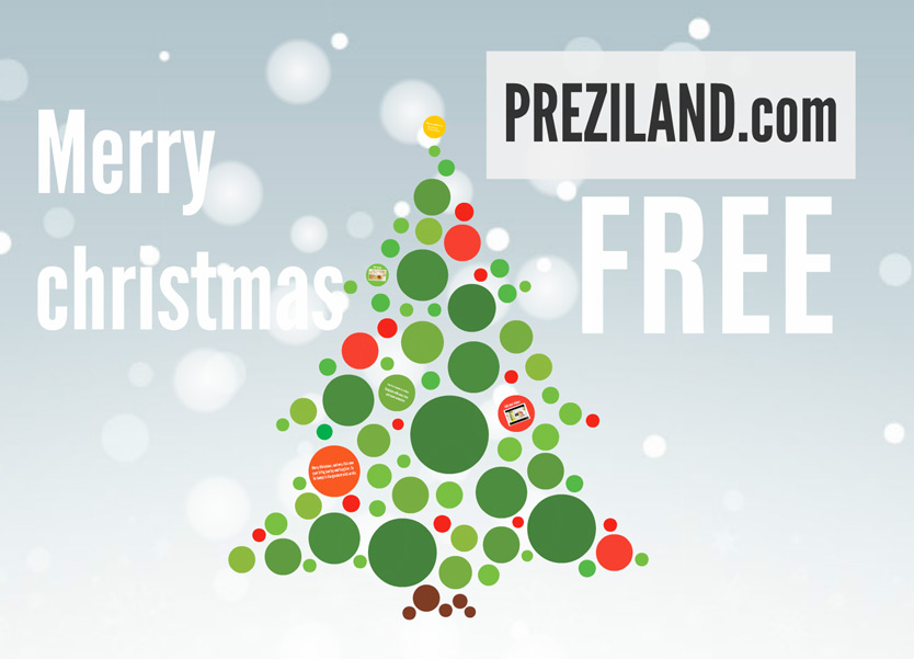merry christmas free prezi template