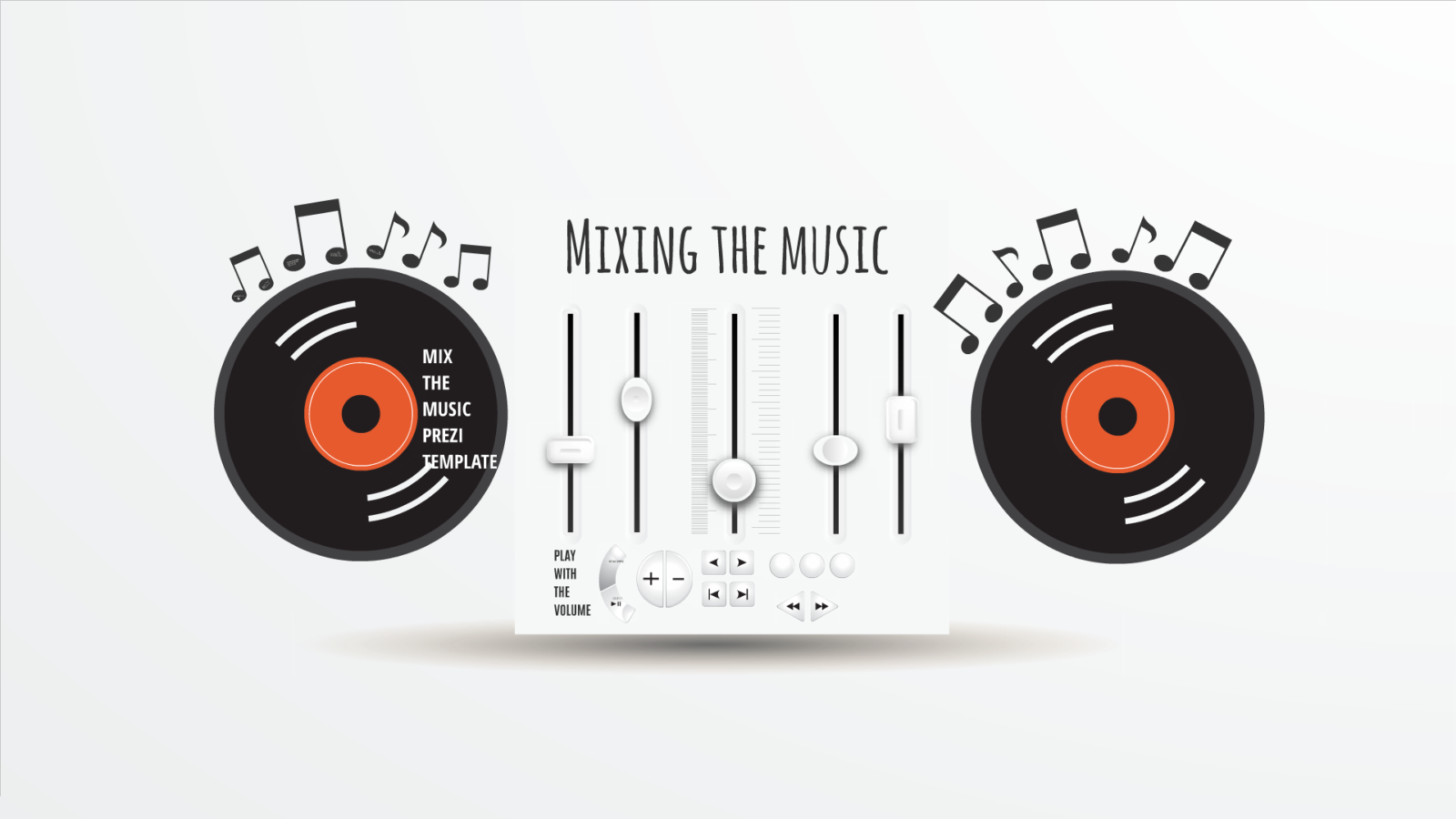 Mixing music Prezi template