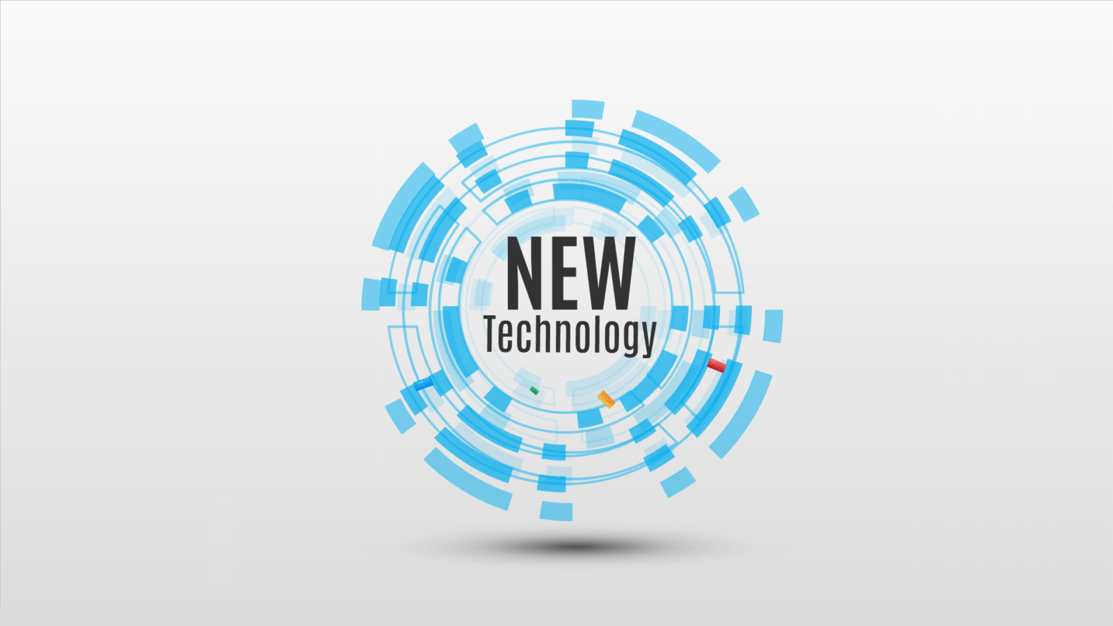 New Technology Prezi template with 3D