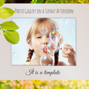 Photo Gallery Sunny Afternoon Prezi template