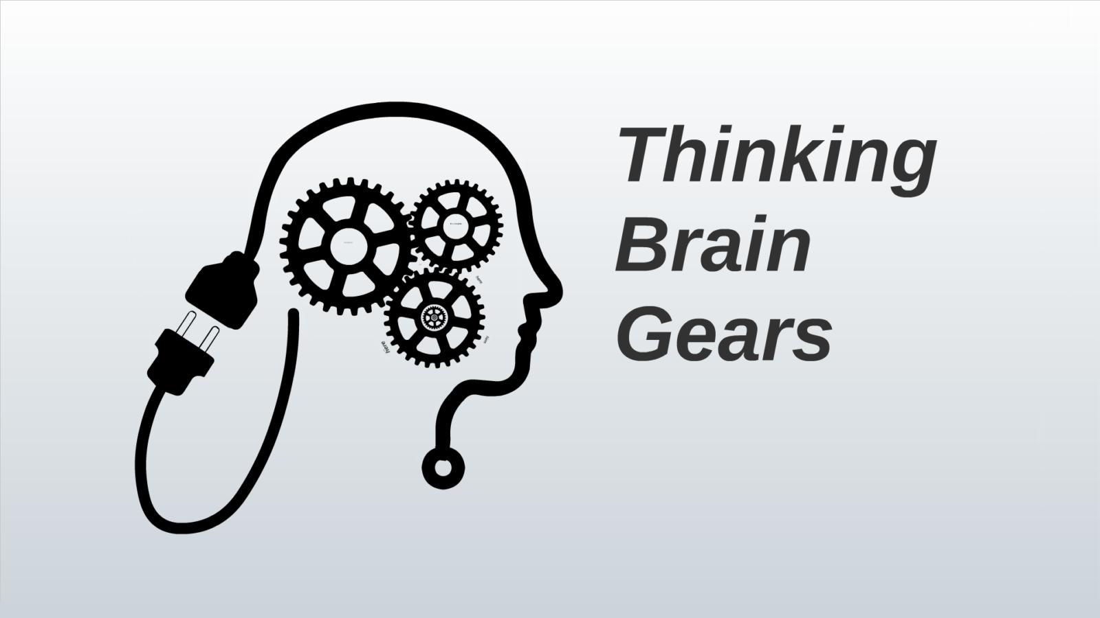 Prezi Animated template Thinking Brain Gears