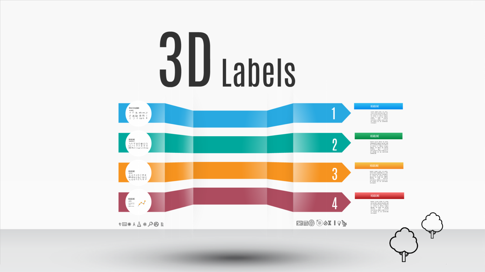 Prezi template 3D labels