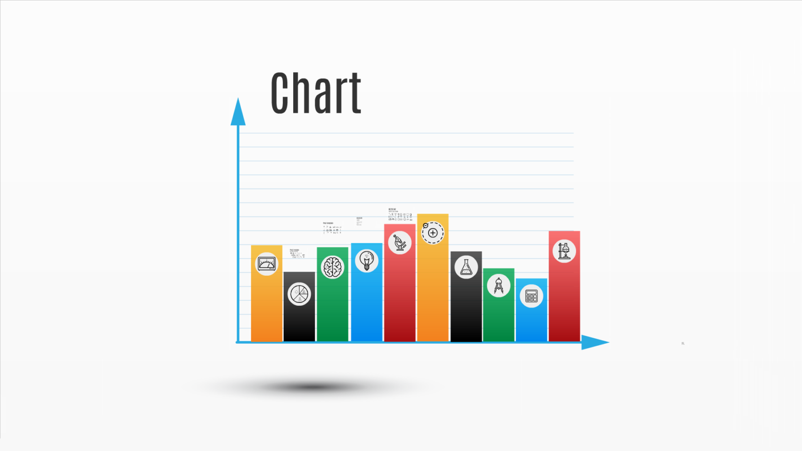 Prezi template simple bar graph