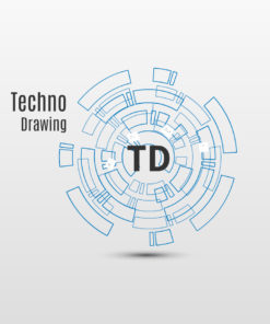Techno drawing Prezi template