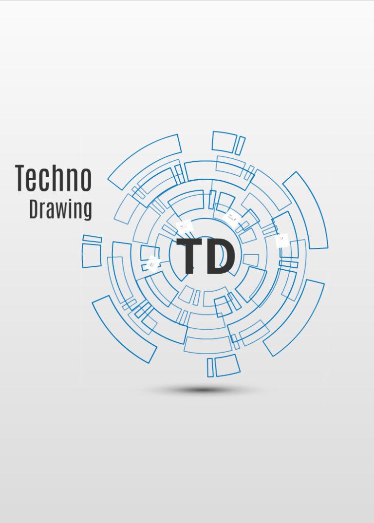 Techno drawing Prezi template