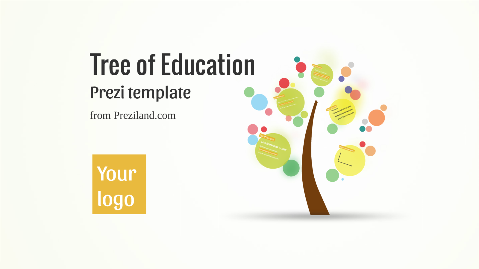 Tree of education Prezi template
