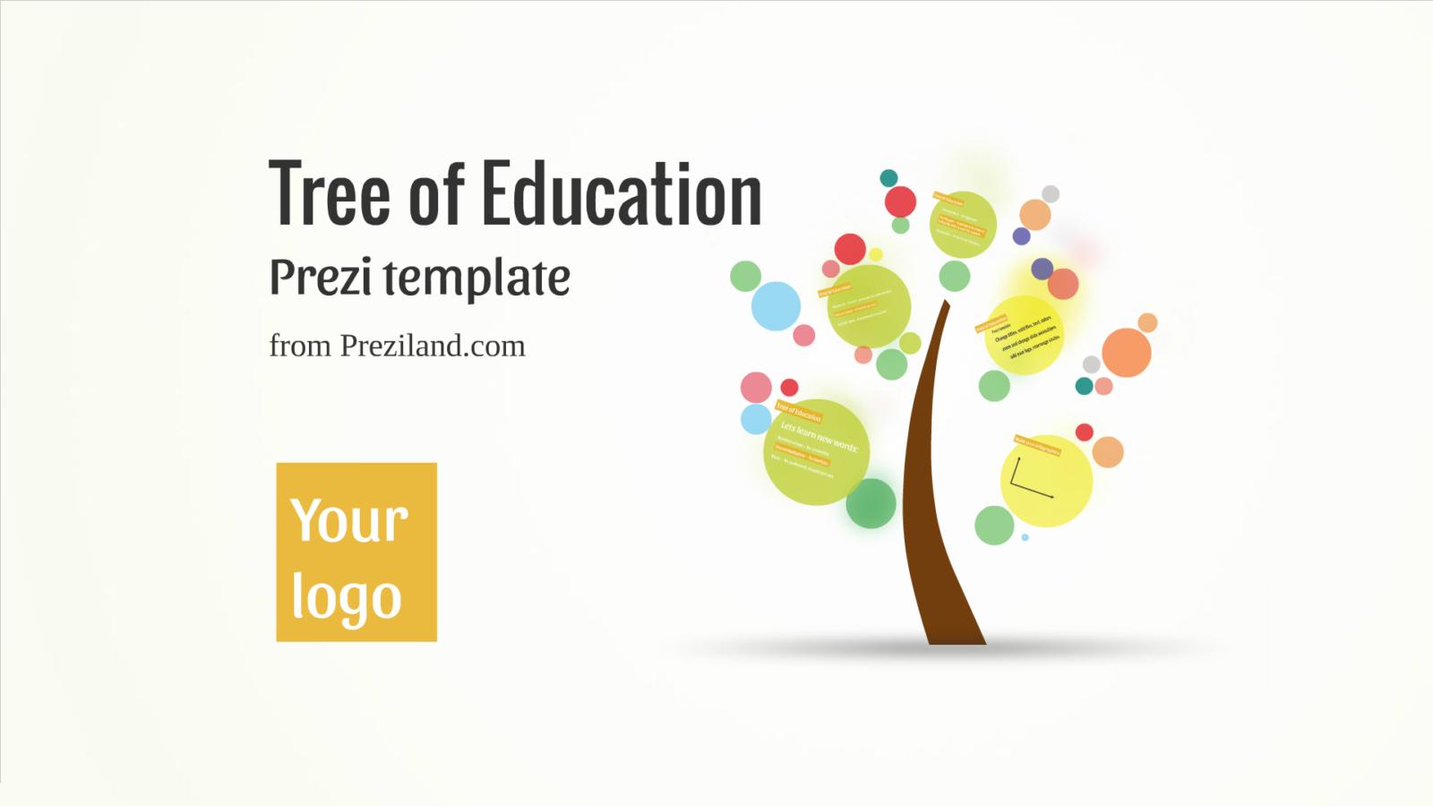 Tree of education prezi template preziland for Prezzi lago design