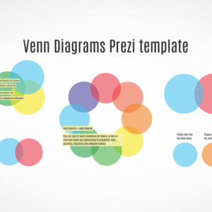 Venn diagrams infographics Prezi template