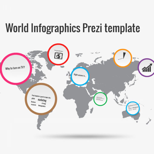 World Infographics Prezi template