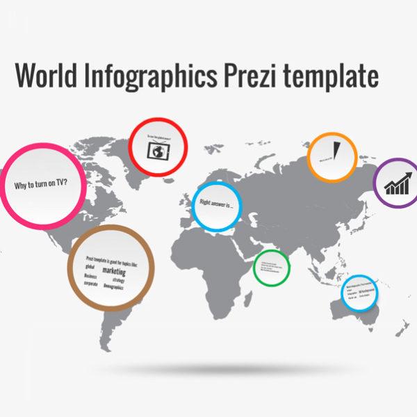 World Infographics Prezi template