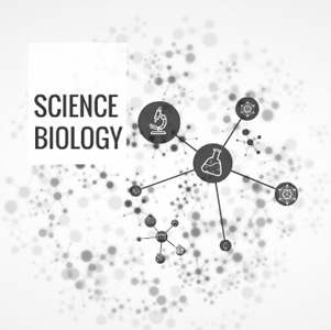 biology template with abstract molecular background