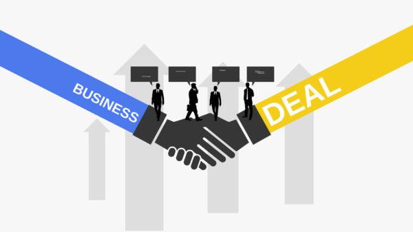 business deal free Prezi template