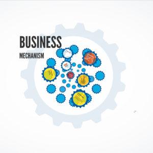 business mechanism prezi template