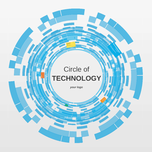 Circle of technology Prezi template