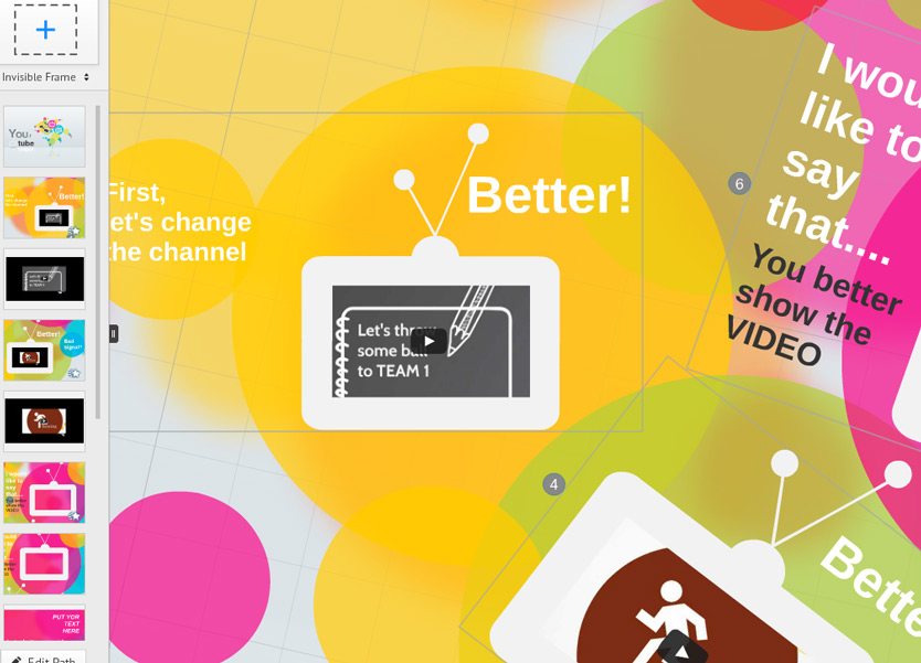 how to change Prezi Video Presentation