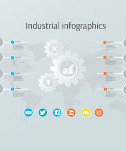 industrial infographics prezi template