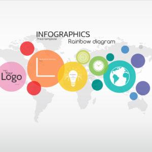 infographics rainbow diagram prezi template
