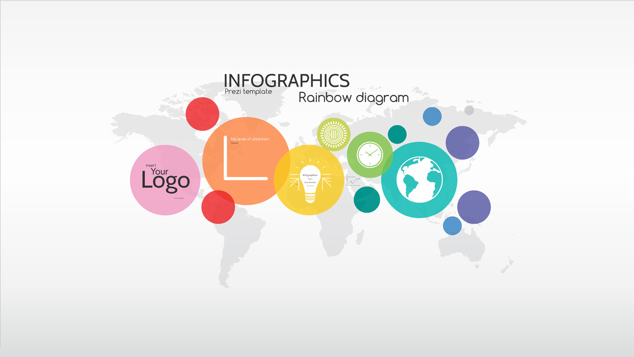 infographics rainbow diagram prezi template preziland