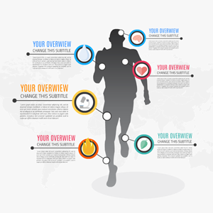 men sport infographic Prezi template