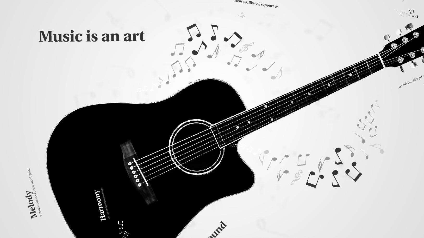 Dovetail template printable guitar - Music Prezi Template Preziland
