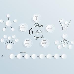 paper style layouts prezi template