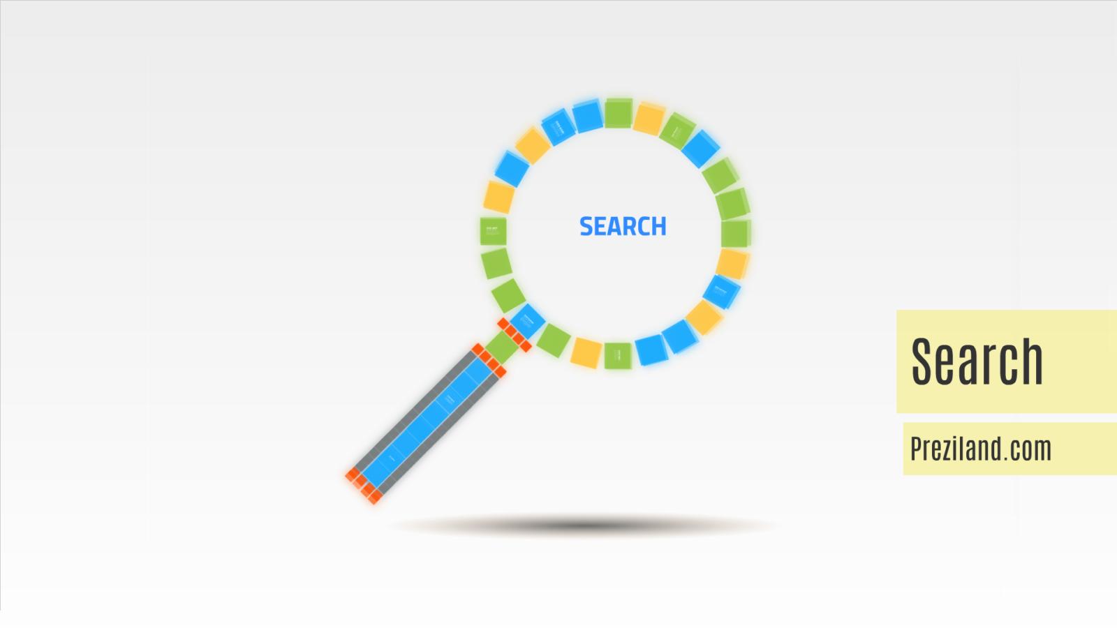 search Prezi template