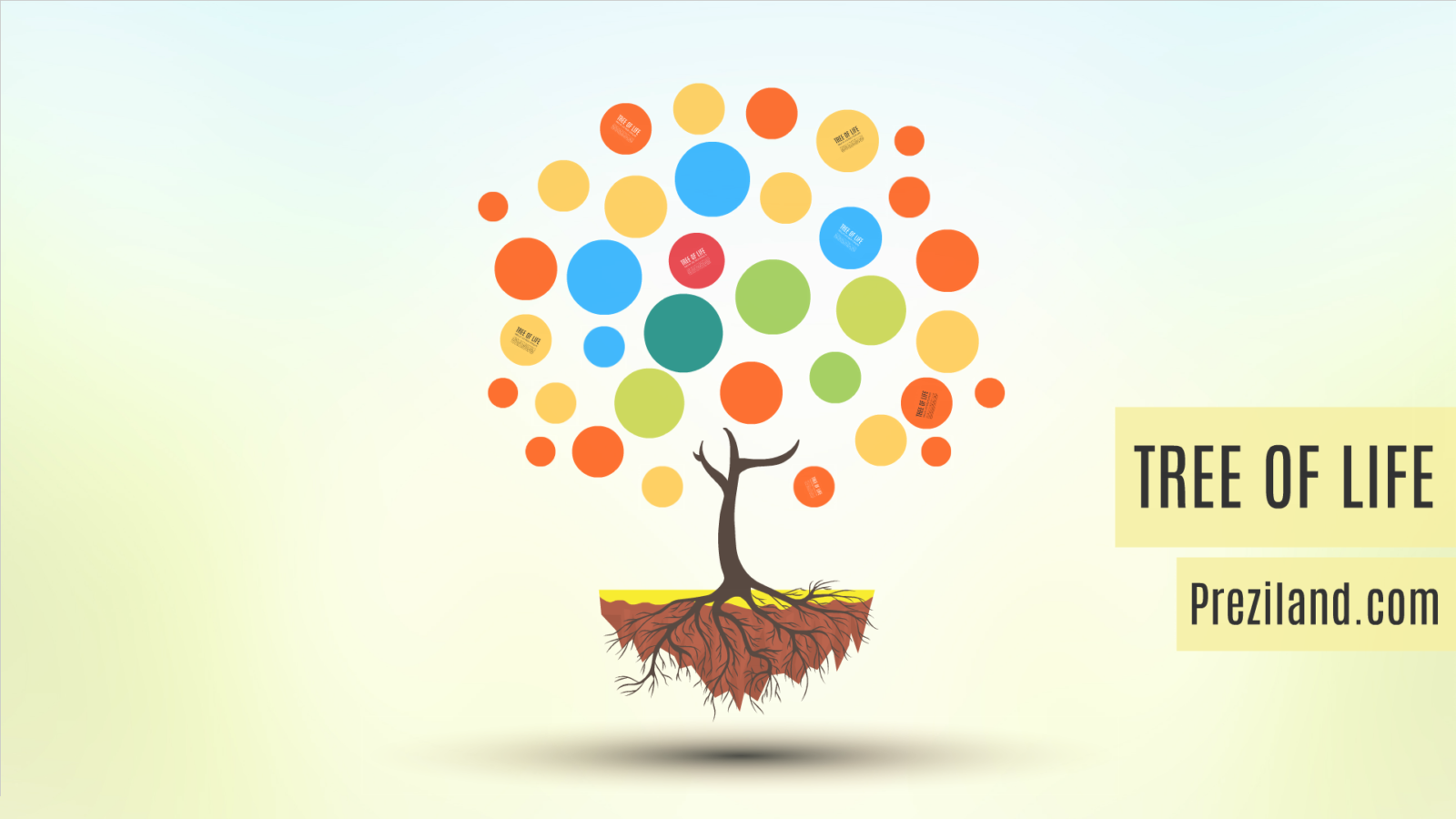 tree of life prezi template | preziland, Powerpoint templates