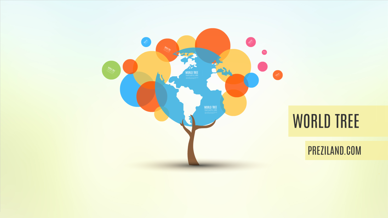 tree of world - preziland | preziland, Powerpoint templates