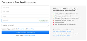public account register