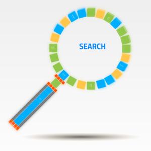 search prezi template with loupe from Preziland
