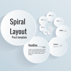 Spiral Layout Prezi template